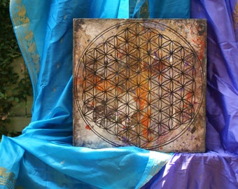 Seed of life painting