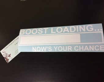 Boost loading... Now's your chance Vinyl Racing Decal