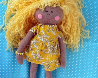 doll, textile doll, soft toy