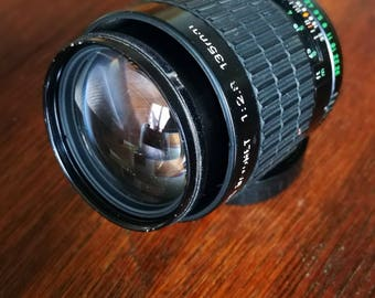 Takumar 135 mm f2,8 Lens for Pentax K-Mount Cameras. Vintage 1980s SLR Tele-Photo Lens