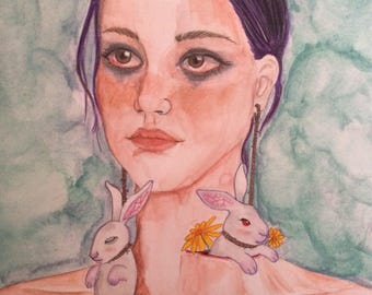 Follow the White Rabbit - original artwork