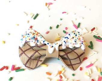 Ice Cream Mini Bow