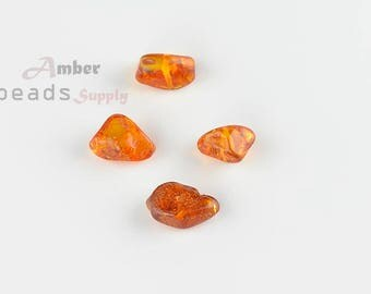 4 pieces of Amber, Baltic Amber Beads, Loose Beads, Beads for Jewelry, Beads Supply, Amber Beads supplies, MO115