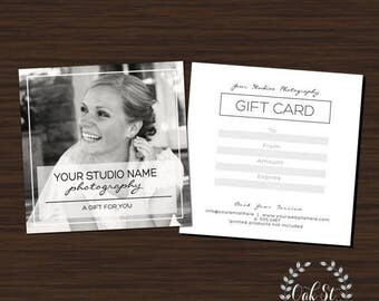 50% OFF PHOTOGRAPHER Gift Card Template, Simplistic Modern Wedding Photography Gift Card, Photography Gift Card Template