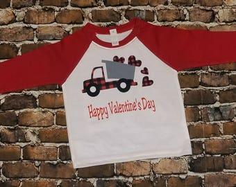 Valentine shirt, boys valentine shirt, dump truck valentine shirt, Personalized Valentine shirt, toddler valentine shirt, cute shirt