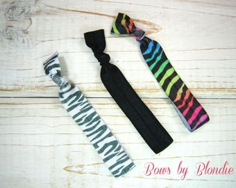 Zebra Hair Tie set!