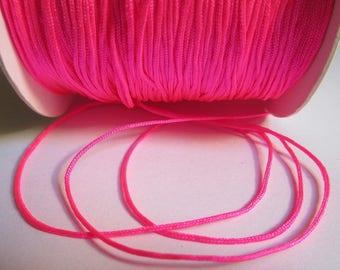 5 m 0.8 mm neon pink nylon string