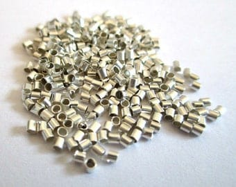 200 crimp silver 1.5 mm tubes
