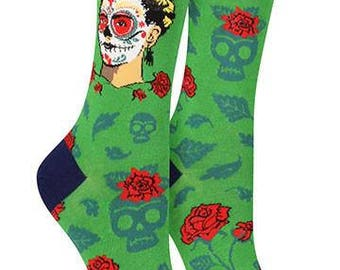 Art Socks, Frida Kahlo,Dia de los Frida,Cotton Blend,Art Teachers,Teachers,Artist,Frida Kahlo clothing,Gift for Women, Gift