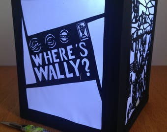Where's Wally inspired Papercut out Lantern