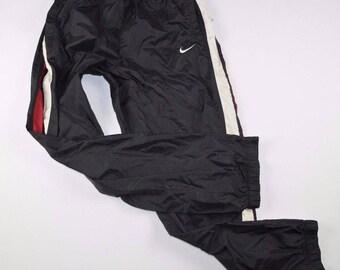 90s NIKE Casual Nylon Joggers Jogger Pants Mens Large Black, Vintage Nike Joggers, Vintage Joggers, Vintage Jogger Pants, Nike Pants Black