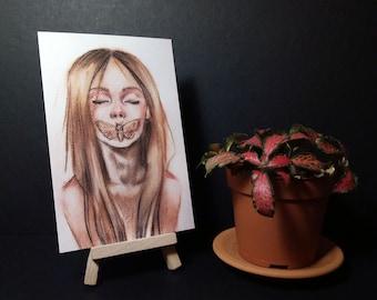 Art Card. Fine Art Print. Silence.