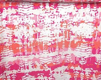 Rayon Lycra Slub Jersey Knit Fabric Scattler Print Lightweight   BTY