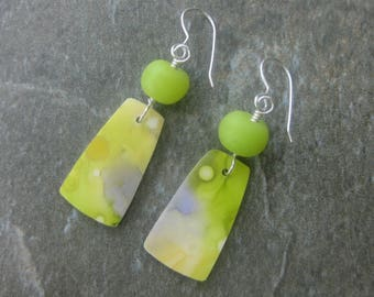 Watercolor pierced dangle earrings