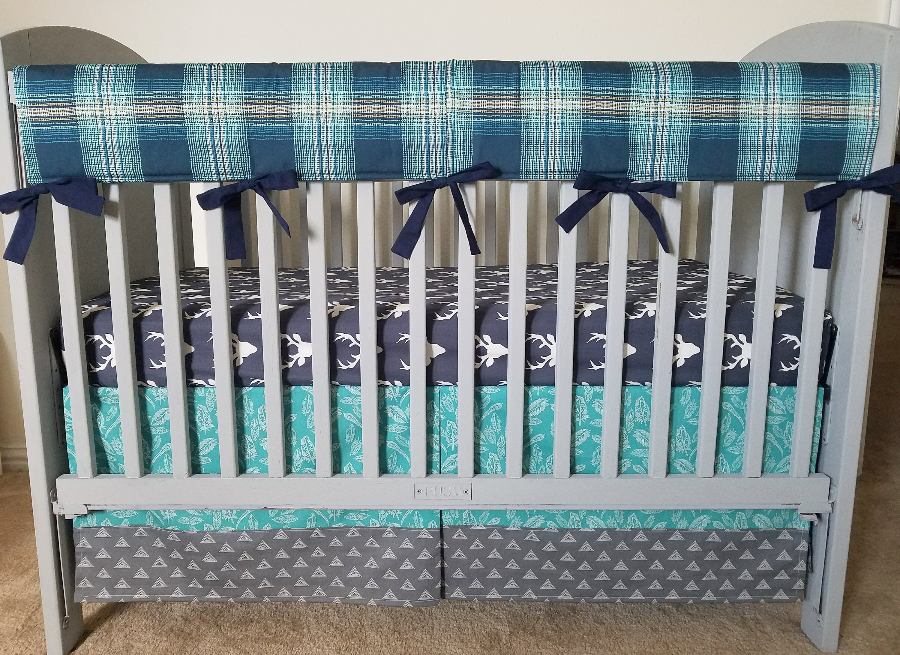 stupendous cribs stripe girl baby navy appealing chevron plaid collection crib surprising light linen sweet jojo and valance green window boy designs bedding by blue lime