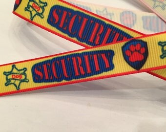 "Security Dog 5/8"" Grosgrain Ribbon"