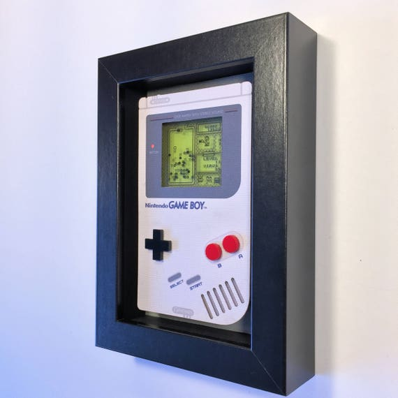 Dr. Mario Nintendo Game Boy Shadowbox Art Sculpture Diorama 4x6