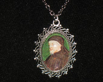 Geoffrey Chaucer English Poet Pendant Necklace 24 inch Canterbury Tales