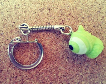 Green eye keychain