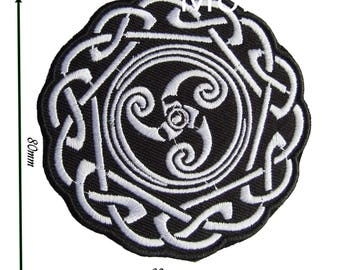 Patch Celtic Embroidered patches Iron Badge Sew Pagan Wiccan Witch Knot Biker Viking 105