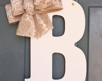 Intial Door Hanger - Monogram Door Decor - Room Decor - Bridal Shower Gift - Bridal Shower Gift - Wedding Decor - Girls Room Decor