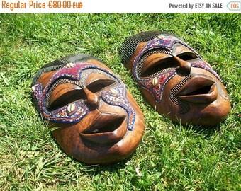 ON SALE African Mask, African Art, Tribal Mask, African Wall Art, African Wall Hanging, African Wall Decor, Senegal