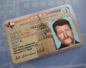 The Walking Dead Driver's License [ Sgt. Abraham Ford ] ( T2 ) B3G1F