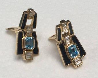 Fabulous Christian Dior clip earrings