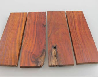 Cocobolo Knife Scales,Handle blank Exotic Wood Ideal for all your wood projects #11115