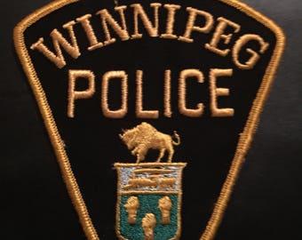 Winnipeg Police 1960s Sr Office Patch