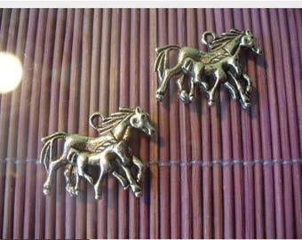 HORSE charm pendant Tibetan silver