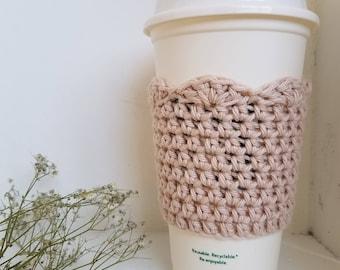 Crochet Cotton Coffee Sleeve