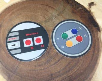 Nintendo: Classic Retro Controller Pack | Sticker Pack