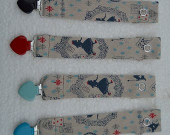 1 pacifier clip fabric vintage
