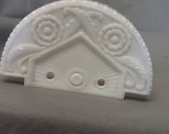Vintage Milk Glass Light Cover
