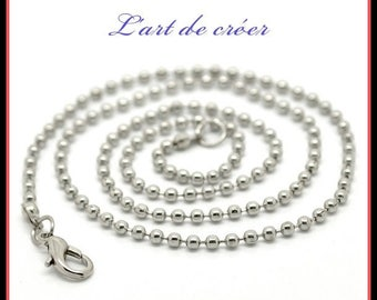 2 x chain Choker, 2.4 mm with clasp ball