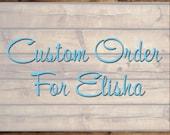 Customer Order For Elisha