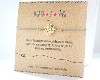 Lucky Bracelet * Make a wish * with a life flower