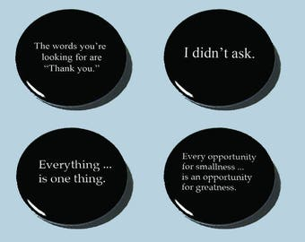 """Quote/Quotation Buttons!! 1-1/2"""" Spiffy!!"""