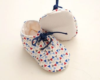 Slippers soft baby boy made in France size 18