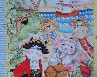 baby quilt, homemade baby quilt, pirate quilt, baby boy quilt, crib quilt, nursery decor