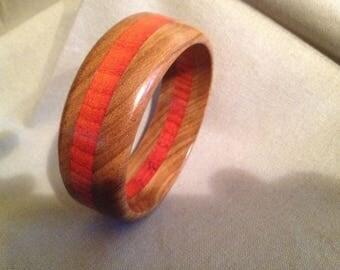 Wood bangle bracelet #7