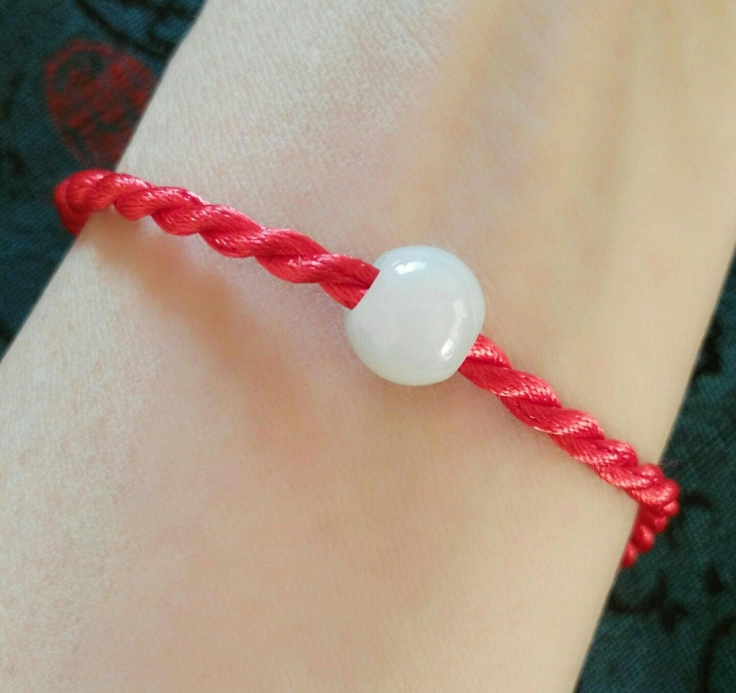 jade fullxfull knot bracelet lucky good endless p carved chinese cord luck adjustable red il