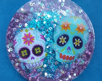 Day Of The Dead Double Skull Ornament