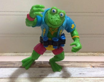 Teenage Mutant Ninja turtles / TMNT / TMNT Genghis Frog Action Figure / 1989 Playmates, / Teenage Mutant Ninja Turtles