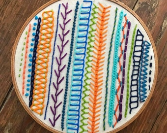 Modern Embroidery Sampler 6''