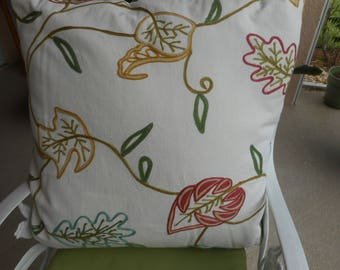 """Embroidered Throw Pillows, Zippered, Qty 2 at Size 24x24"""" 60.00 ea"""