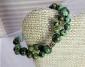 DIFFUSING STACK BRACELET (Wrap/Stretch). African Turquoise. Natural Lava beads. Tribal chic. Boho chic. Bohemian. Gaia Ways
