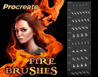 Fire and flames brushes - procreate