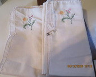 12 Embroidered Napkins
